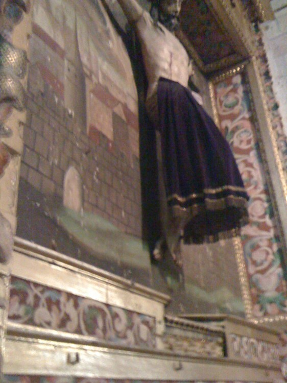 Christ's Skirts Do Not Quite Achieve Full Daintiness at Segovia