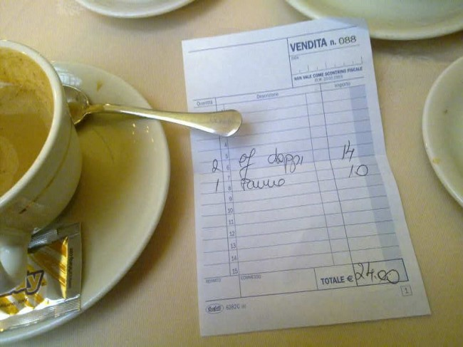 The Multis' Breakfast Bill, Milan