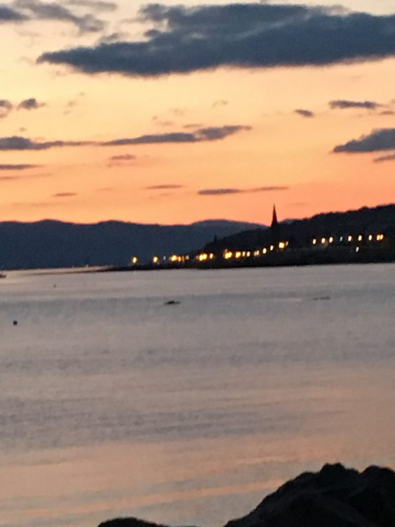 Scotland: Tinged with Apricot in the Long Sun-set: Magic and New. Really Well Done, Scotland