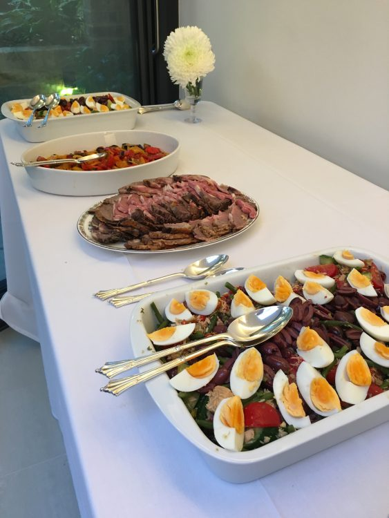 The Buffet at the Extension Opening: Salade Nicoise was Excellent but There was a Lot left over. Lord Baring was Served it until the Following Wednesday at Least