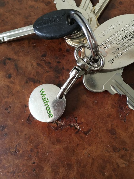 I am Proud to be of the Waitrose Twitterati: I Proclaimed to the Man in the Key Ring shop and he Knew at Once What I Meant