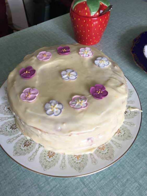 The Over-Size Easter Cake, as Ordered by the Gay Mother. Tesco's Idea of Crystalised Violets