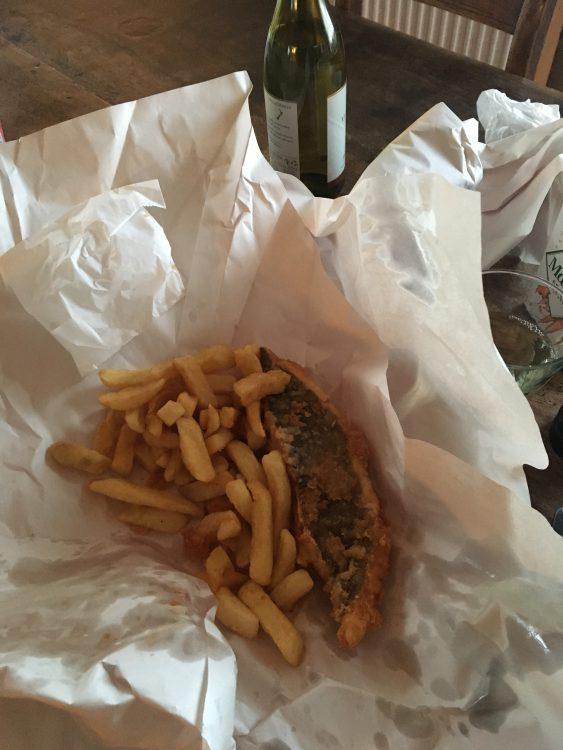 We Took Fish and Chips back to Genevieve Suzy's Mansion