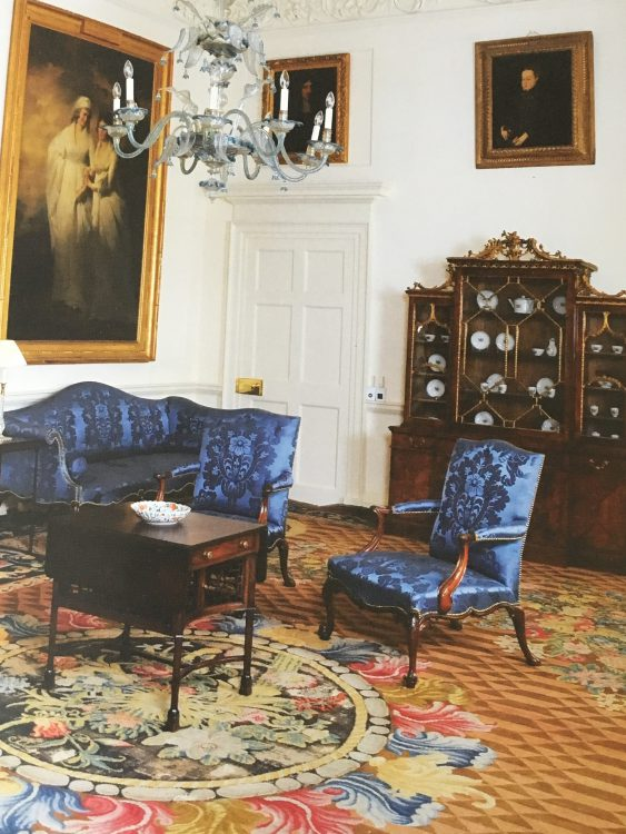 Dumfries House: the Blue Drawing Room. Furn by Chippendale. This is the Sofa Lady Eileen Used for Dogs