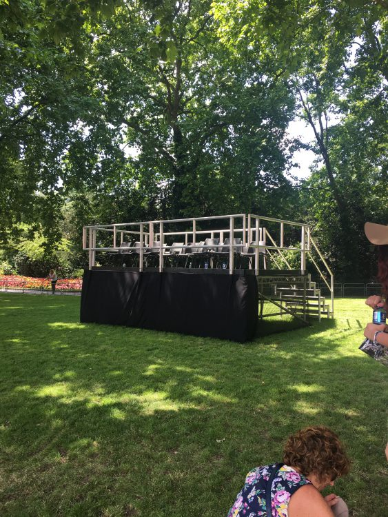 Our Private Stand for Trooping