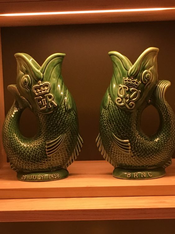 A Pair of Fish Gurgle Jugs Given by Dartmouth Naval College