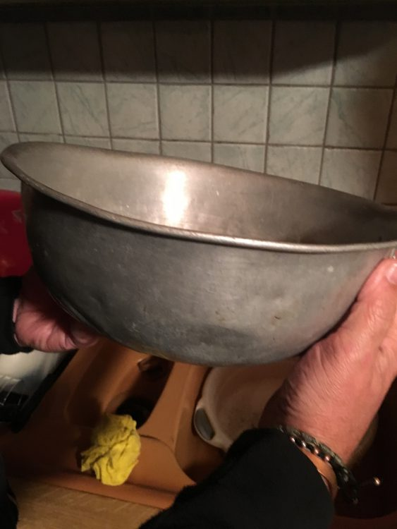 Angus Willis's Dog Bowl that was Lost then Found. That which Was Lost was Found