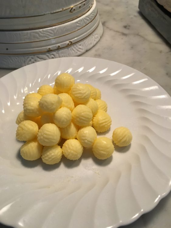 Landhydrock: the Butter Balls as Made by the Gay Granny