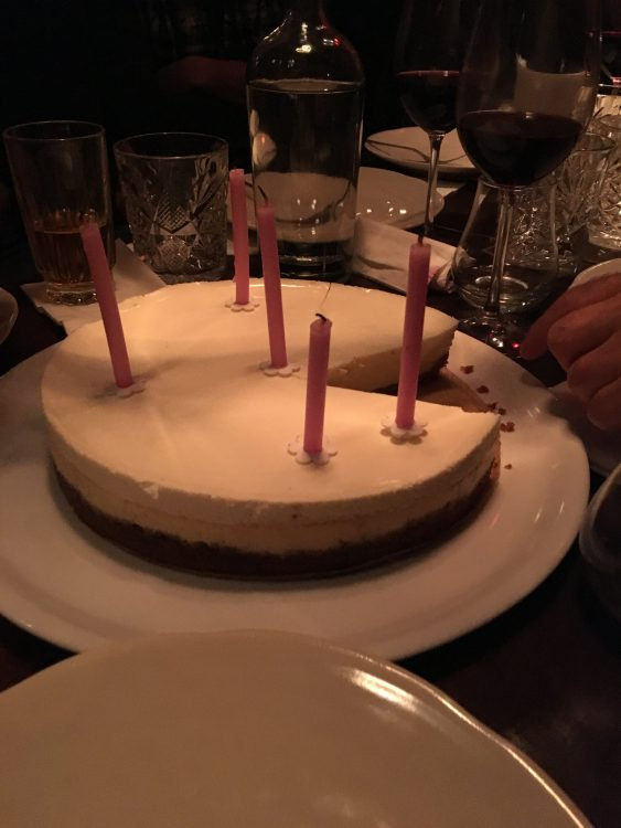 Anthony Mottram's Quiet Birthday Cheesecake on the Remote Restaurant on the Friday