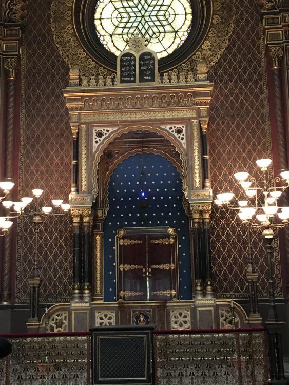 The Spanish Synagogue in the Jewish Quarter Prague: the Only One There with Colour