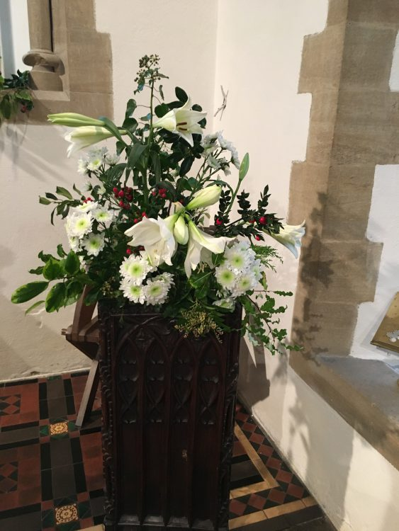 Christmas Flowers at Church in the Far West