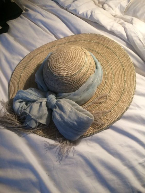 Laura Malcolm's Hat, Self-Dressed for St Lucia