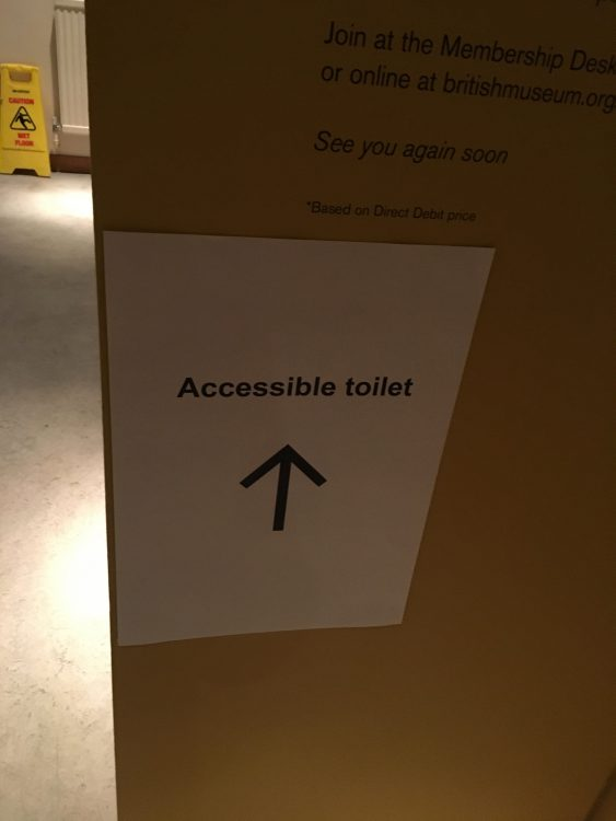 Useful Sign at BM. What would Inaccessible toilet be?