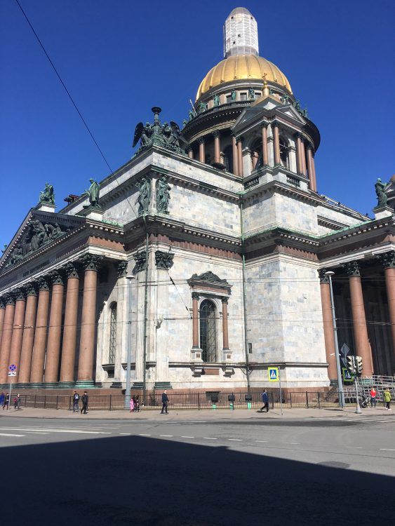 St Isaac's Cathedral, St Petersburg: Lumpy