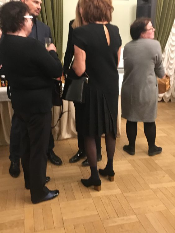 Today's Romanovs at the Ian Bostrich Concert at the Main Concert Hall. She's Probably in Max Mara. She had quite a Hot Man with (probably in Zegna). They Talked all through 1st Half and Seemed Furious. But Applauded Greatly. In Second Half were Googling Ian Bostrich to see Who he Is