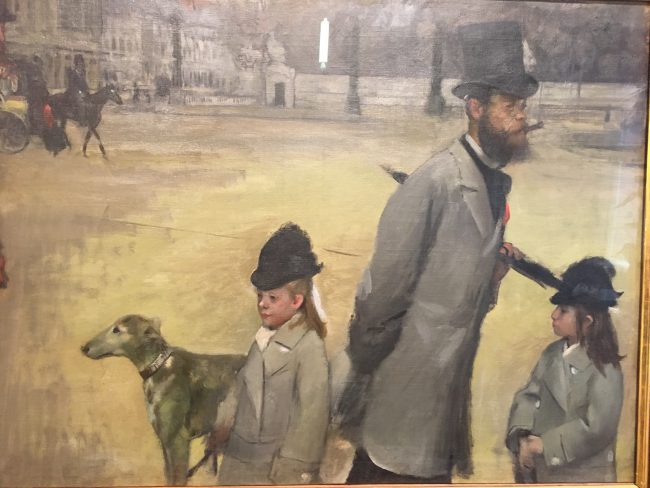 So Strange: I thought this was by Manet but it's Degas. Really Great Picture though