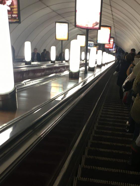 St Petersburg Metro: Long Descent