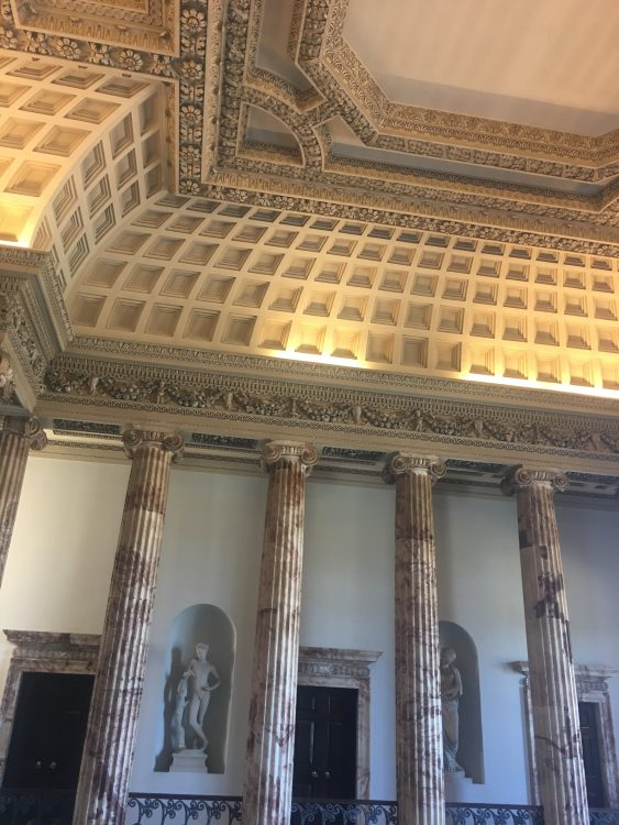 The Entrata at Holkham: Incredible Ceiling, Impossible to Photograph