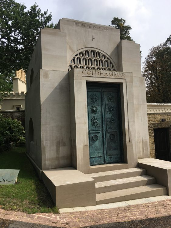 The Newest Tomb, by the Entrance at Highgate West Cemetery