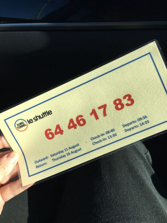 The Laird's Laminated Reference Number for the Eurotunnel