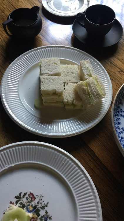 The Cucumber Sandwiches for the Mental Health Open Garden Tea: We Must have Things Daintily Done