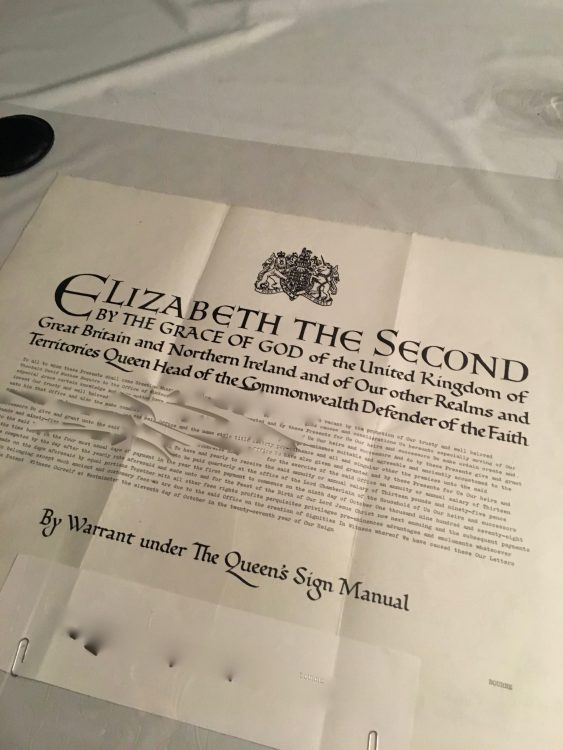 Marmion Beaufleasaunce: Letter of Engagement from the Queen