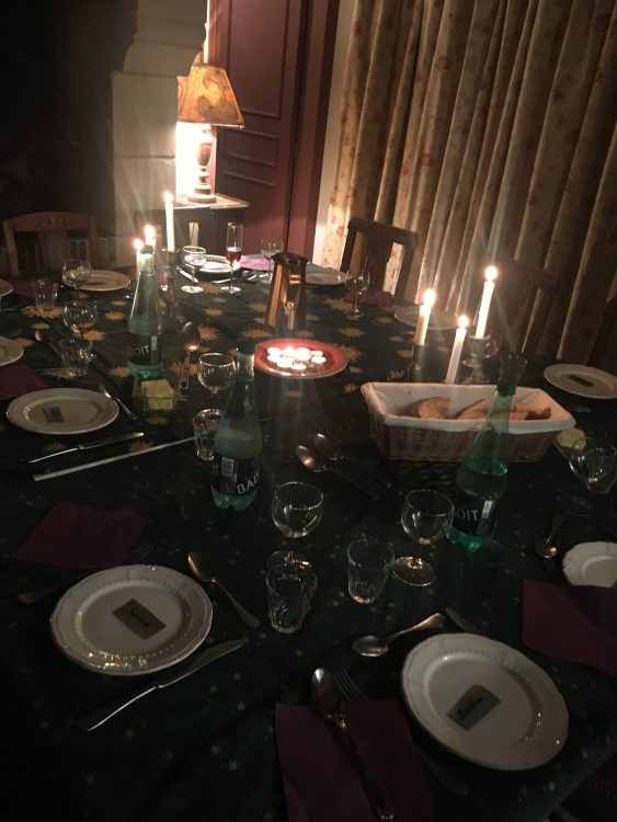 The New Year's Eve Dinner Table: So Light and Tripping. I Wasn't Bored One Moment