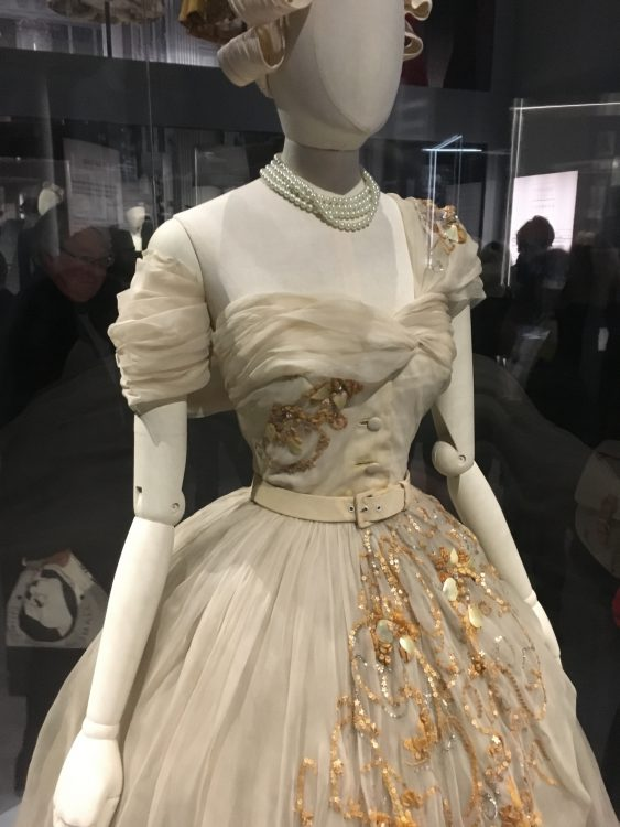 Princess Margaret's Dior Dress for her 21st Birthday. It's got Grubby and I don't Like the Belt