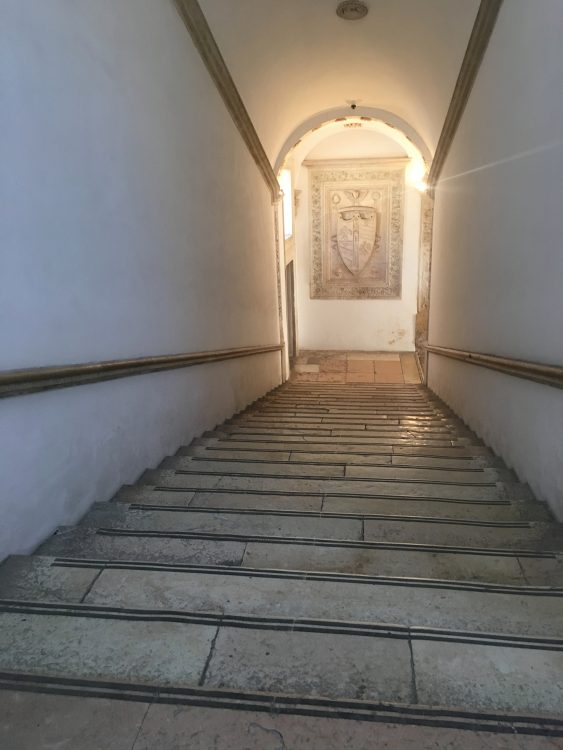 The Staircase of the Palazzo Ducale at Urbino. This was how Stairs were Done before Cantilevering