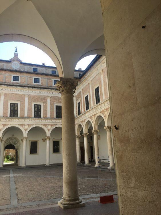 Pillar Work at Urbino Ducal Palace Urbino