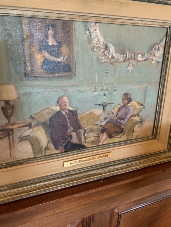 Painting of the Beits by Derek Hill, friend of James Lees-Milne. Not Awfully Good