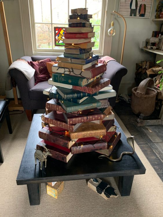 Robert Nevil's Book Christmas Tree Created by the Nizim