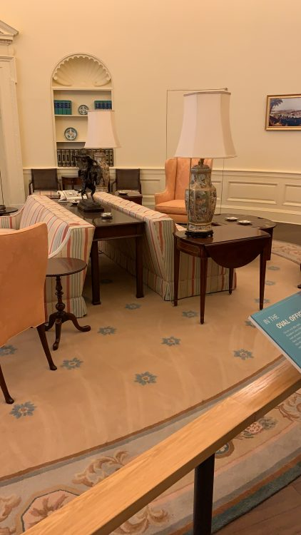 In the Oval Office: a Good Hotel Room Really but Oval