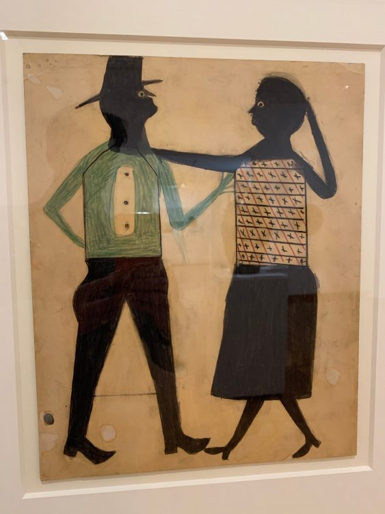 Bill Traylor: Untitled. He died 1949: between the age of 85 and 89 he produced 1200 drawings of vibrant life in Montgomery Alabam