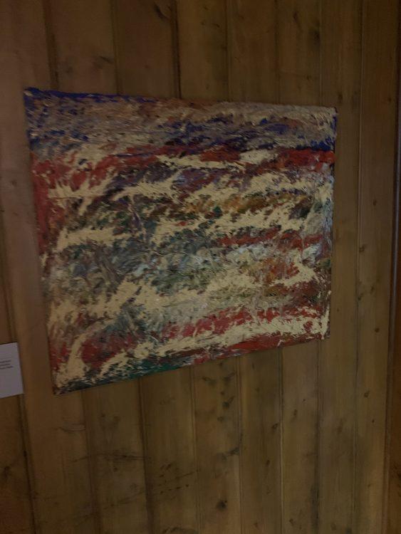 Derek Jarman: Painting of Dungeness: Gloomy, Royston said
