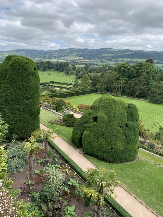 Powis Castle Garden: Graphs do Not do it Justice. You see the Great Blank below and the Newer Garden Extending