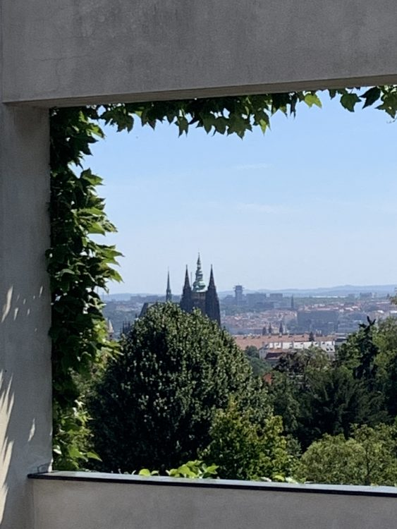 The View from the Terrace to Prague Castle: Muller House Prague