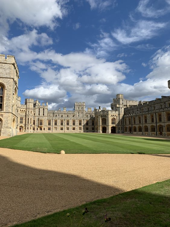 Windsor the Quadrangle: Cosy and Intimate. The Private Apartments are on the Right