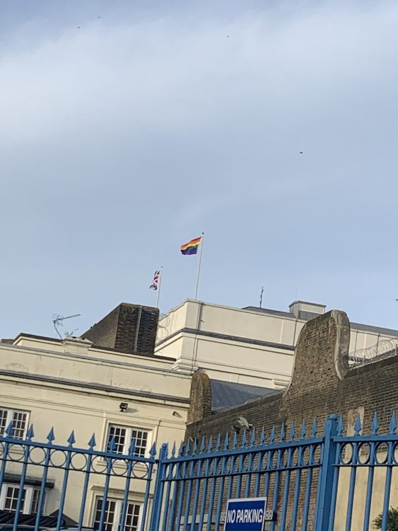 The Gay Flag Flying from Pentonville Prison, Signalling their Gay inmates, but whom?