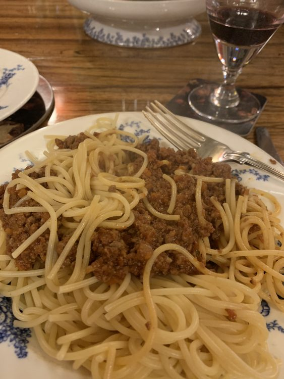 Bolognese made with Angus Willis's Late Mother's Recipe