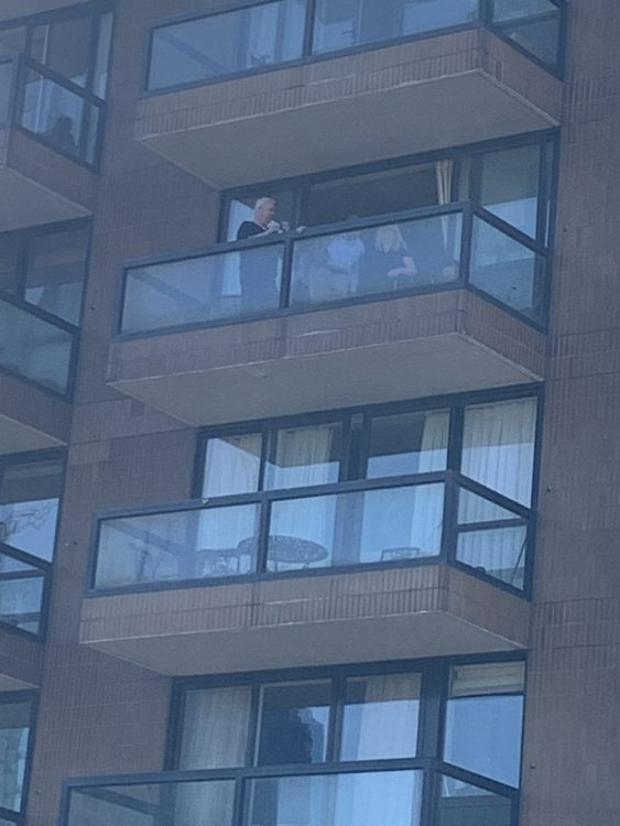Lionel Moore Makes a Balcony appearance on his 100th birthday