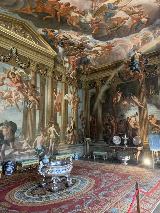 Burghley House: Swirly Interior Supreme. The Heaven Room