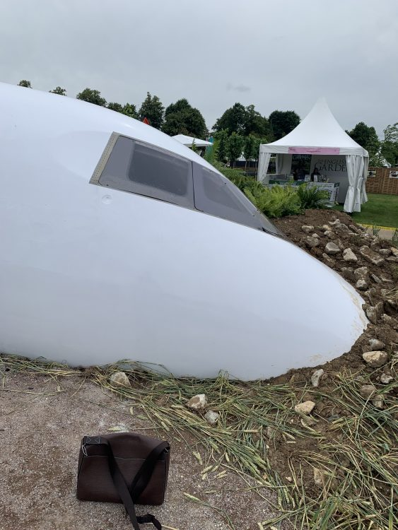 Crashed Aeroplane: a 'Save the Planet' Installation