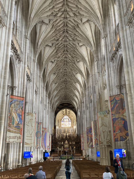 Winchester Cathedral within: High Soaring Above. Incredible
