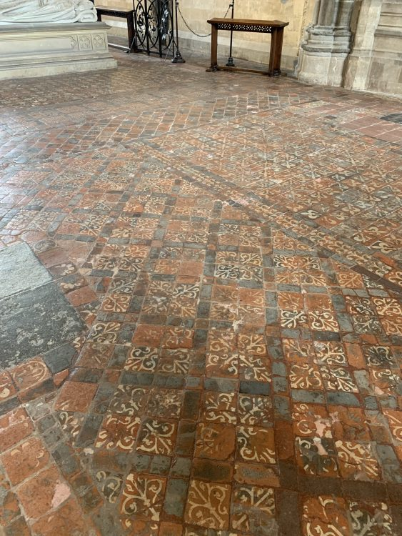 Winchester Cathedral Medieval Tiled Floor. Wow factor. You too could Have One at Home