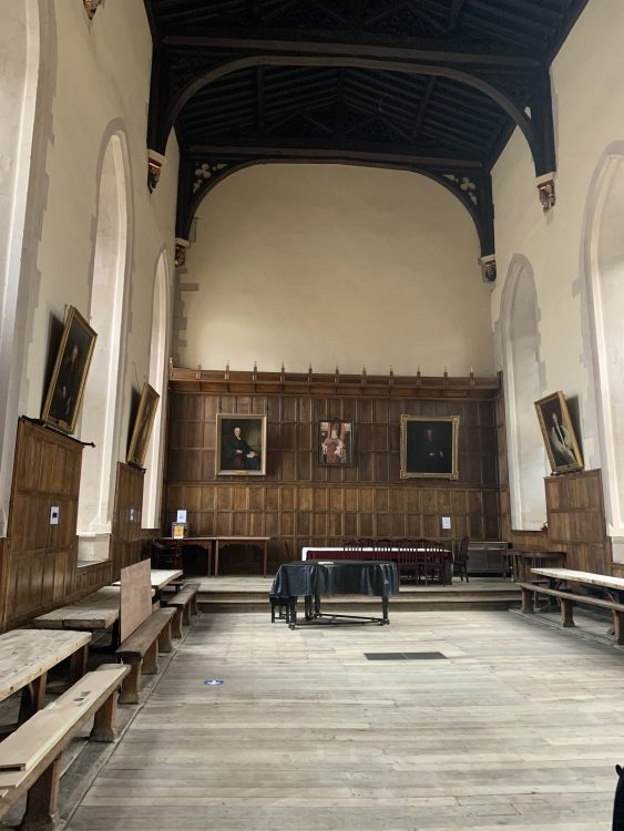 The Scholars' Dining Hall at Winchester College: Somehow Sensual, as if Made of Cheddar Cheese, but such Restrained Ornament as Well