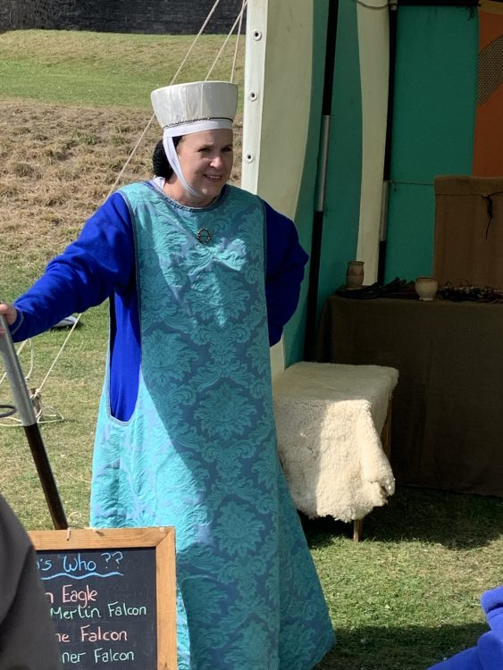 Dover Castle: Medieval Falconry Lady